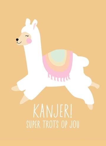 succes goed gedaan kaart - alpaca-running