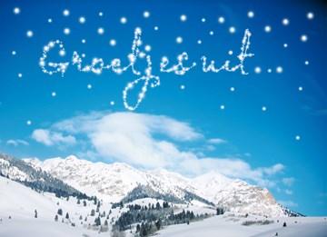 Winterkaart - -sneeuwvlokken-groetjes-uit-de-sneeuw