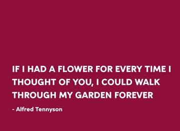 Valentijnskaart - love-quote-valentijn-voor-eeuwig-in-een-bloementuin