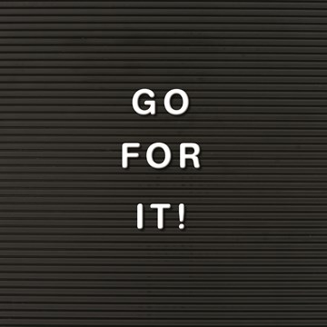 - go-for-it-letterbord
