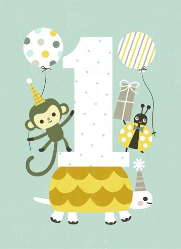 Verjaardagskaarten leeftijd - eerste-verjaardag