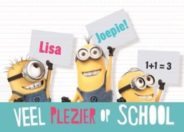 Back to School kaart - minions-back-to-school-kaart-veel-plezier-op-school