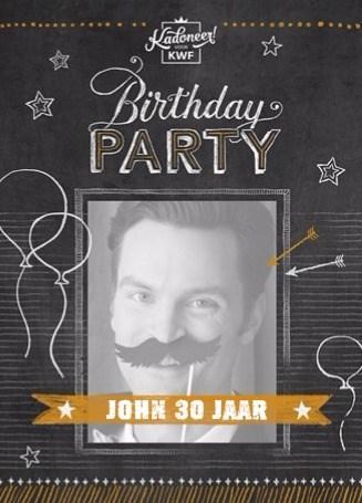 Uitnodiging maken - fotokaart-today-is-your-birthday-party