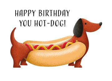 - Verjaardagskaart-grappig-Happy-Birthday-you-hot-dog-Folio