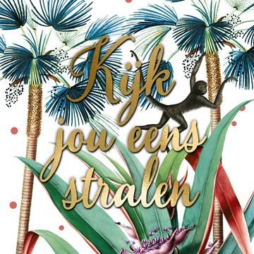 Verjaardagskaart vrouw - kijk-jou-eens-stralen-in-de-jungle