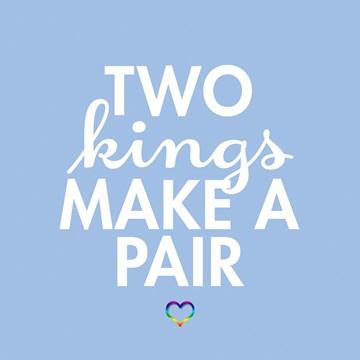 Huwelijkskaart - two-kings-make-a-pair