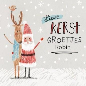 Kerstkaart - kerstkaart-lieve-kerstgroetjes-robin