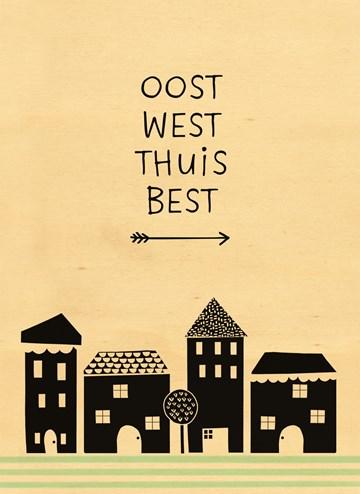 Nieuwe woning / Verhuiskaart - houten-kaart-oost-west-thuis-best