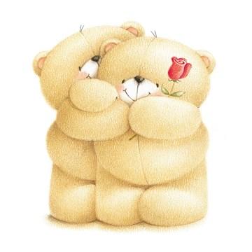 - forever-friends-beren-met-roos