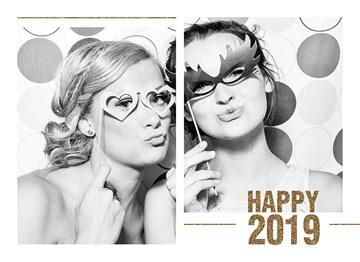 Nieuwjaarskaart - hip-and-happy-2019