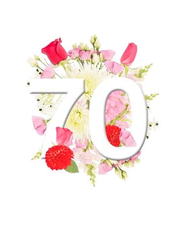 - Verjaardagskaart-70-jaar-bloemen