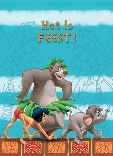 Disney kaart - jungle-book-het-is-feest-mowgli-baloe-elephant