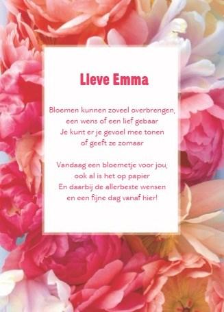 verjaardagskaart vrouw - een-fleurige-bloemen-kaart-met-een-tekst-voor-iemand-zijn-verjaardag