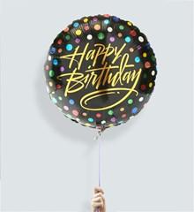Ballon Happy Birthday Confetti
