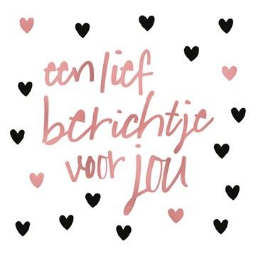 valentijnskaart - hartjes-een-lief-berichtje-voor-jou