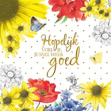 - Kaart-flowers-by-Marjolein-Bastin-Hopelijk-voel-je-je-snel-weer-goed