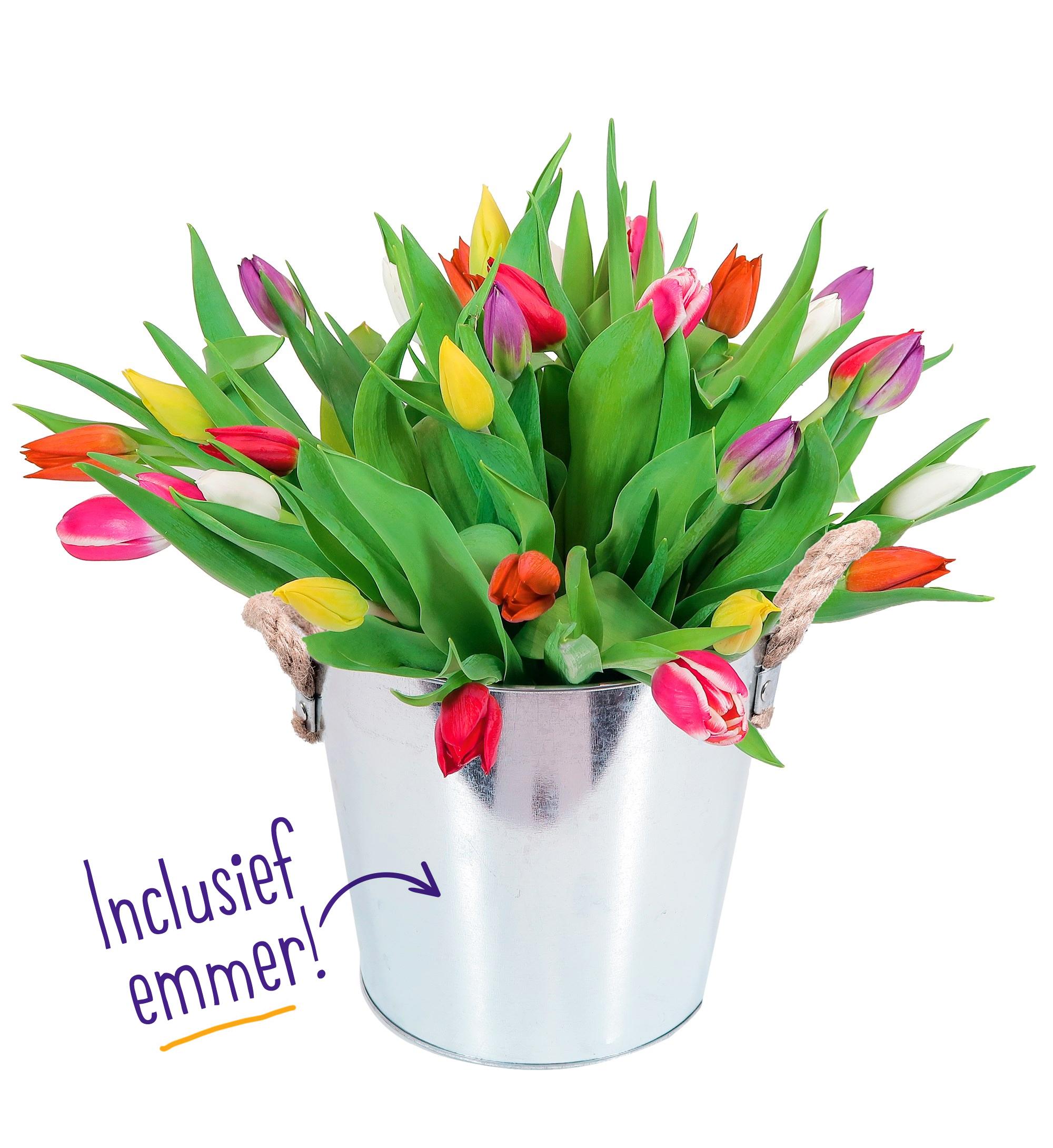 bloemen en kaart versturen
