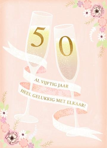 - Huwelijkskaart-50-jaar-getrouwd-Champagne
