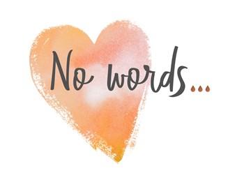Deelnemingskaart - Rouwkaart - no-words