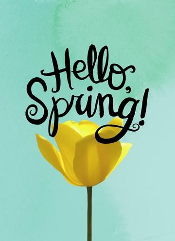 Lente kaart - bloem-hello-spring