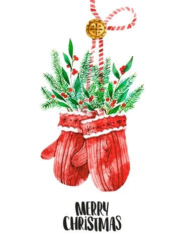 - Kerstkaart-klassiek-handschoenen