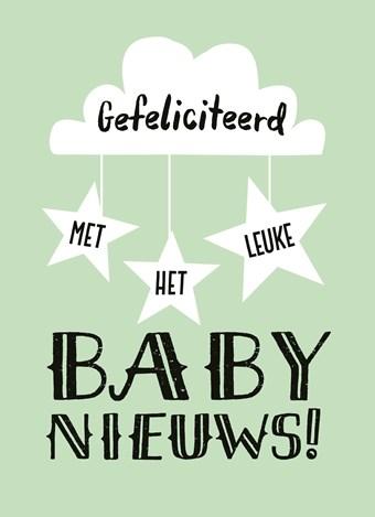gefeliciteerd voor een baby