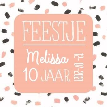 Uitnodiging kaart - uitnodiging-kinderfeest-meisje-verf-vegen