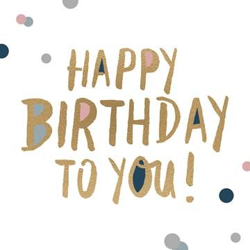 Verjaardagskaart vrouw - monmon-kaart-met-de-simpele-boodschap-happy-birthday-to-you