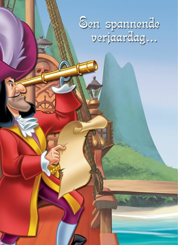 Disney kaart - kapitein-captain-hook-een-spannede-verjaardag