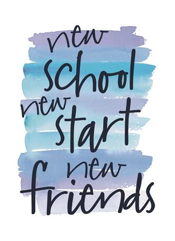 Back to School kaart - back-to-school-new-school-new-start-new-friends