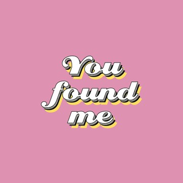 Valentijnskaart - you-found-me