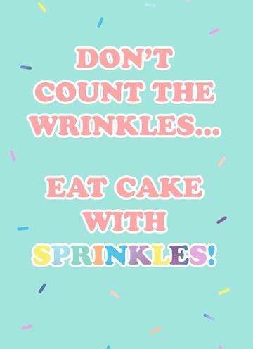 - Verjaardagskaart-vrouw-grappig-Dont-count-the-wrinkles