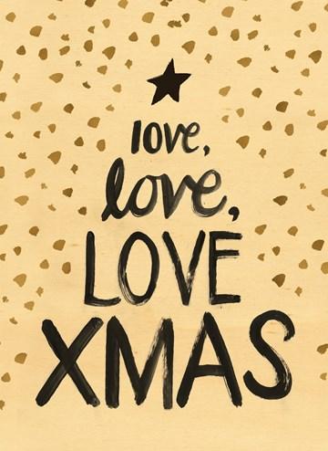 Kerstkaart - kerstkaart-love-love-love-xmas