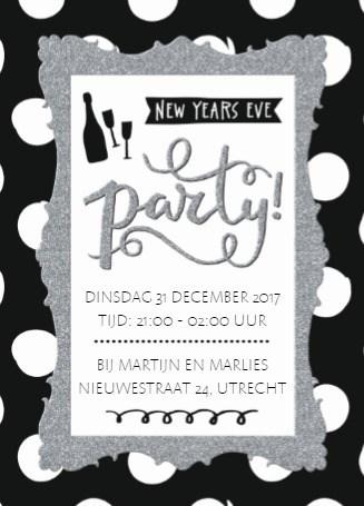 Uitnodiging kaart - new-years-eve-party