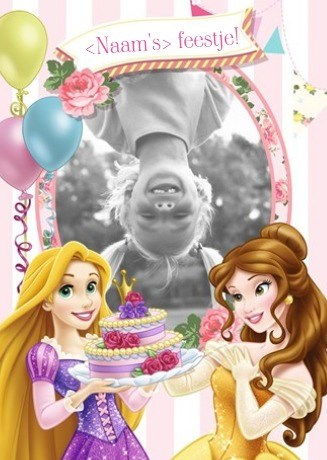 fotokaart-verjaardag-kids-meisje-rapunzel-en-belle-