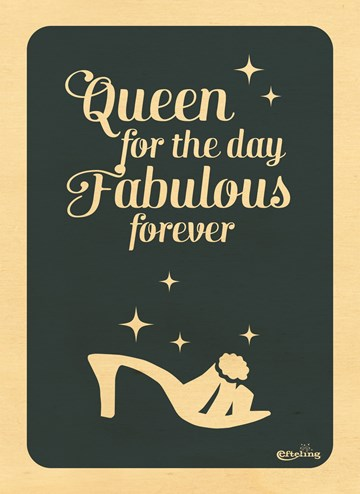verjaardagskaart vrouw - Queen-for-the-day