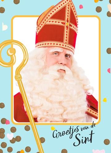 - Sinterklaaskaart-Groetjes-van-de-Sint-blauw-kader