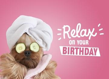 verjaardagskaart vrouw - wellness-relax-on-your-birthday