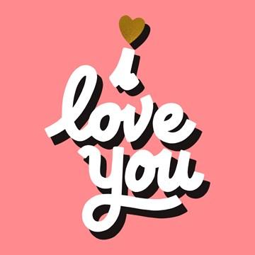 Valentijnskaart - i-love-you-design