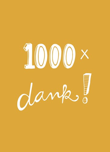 Bedankt kaart - 1000x-dank