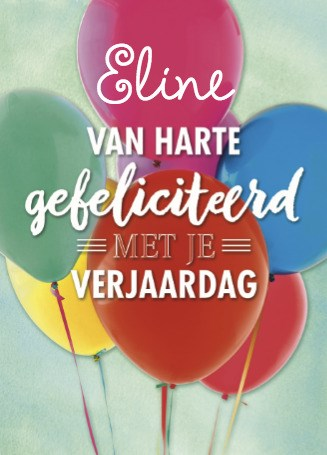 Felicitatiekaart - verjaardag-met-ballonnen