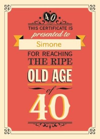 Fonkelnieuw Kaarten Verjaardag leeftijden - 40 | Hallmark EN-06