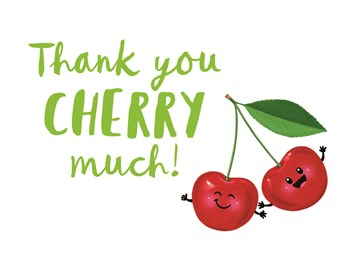 Bedankt kaart - thank-you-cherry-very-much