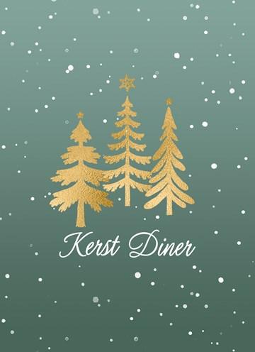 - Kerst-uitnodiging-Kerstdiner-Gouden-Kerstbomen