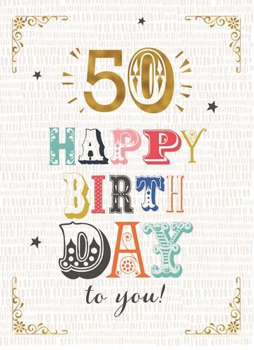 Wonderbaar Kaarten Verjaardag leeftijden - 50 | Hallmark BQ-57