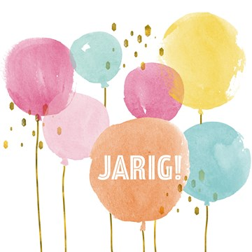 verjaardagskaart vrouw - allemaal-ballonnen-voor-de-jarige