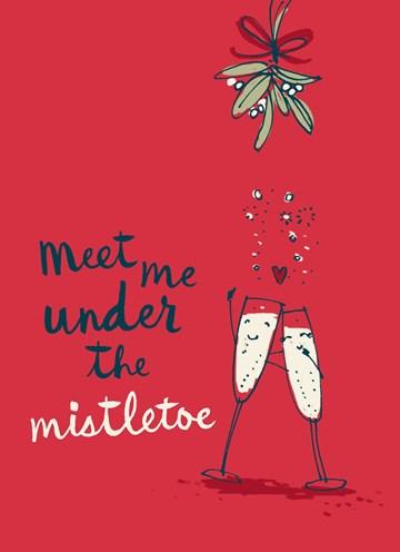 Kerstkaart - meet-me-under-the-mistletoe