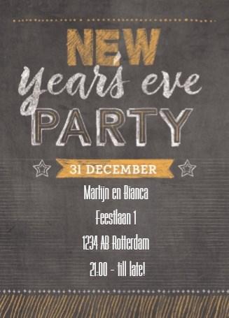 Uitnodiging kaart - uitnodiging-nieuwjaar-new-years-eve-party