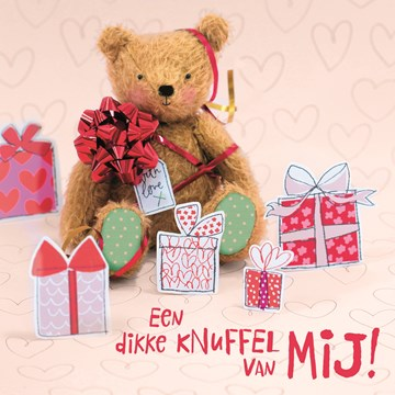 valentijnskaart - valentijn-een-dikke-knuffel-van-mij-