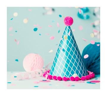 - Verjaardagskaart-feesthoedje-Polaroid